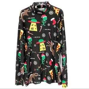 American Rag Christmas in Space turtleneckshirt XL